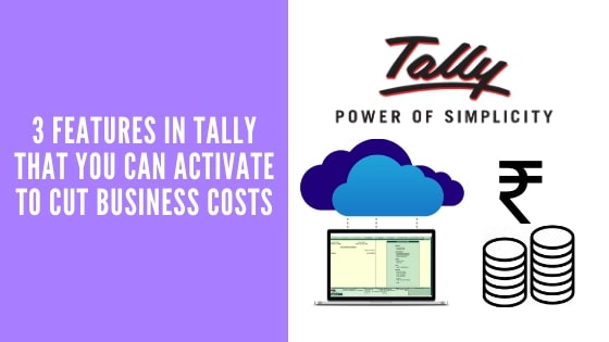 Features In Tally To Cut Business Costs
