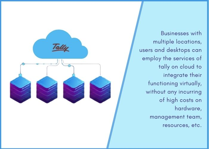 Tally on cloud for multi branches