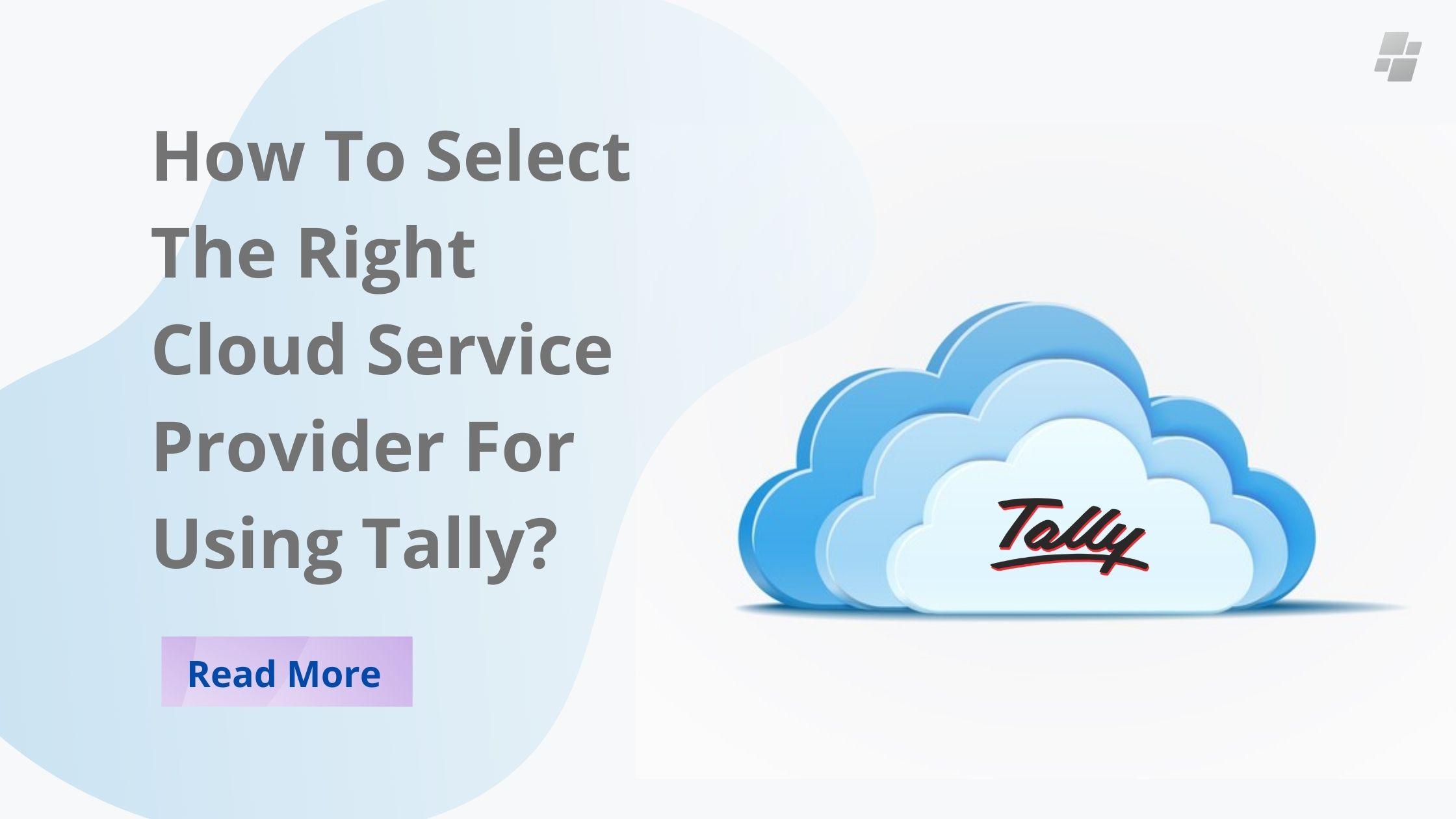 Tally cloud service provider
